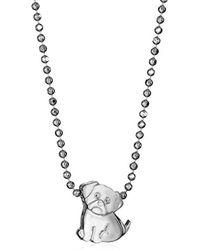 "Alex Woo - ""little Animals"" Pug Pendant Necklace, 16"" - Lyst"
