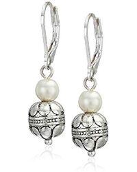 Napier - Pearl Double Drop Earrings - Lyst
