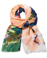 Desigual - Rectangle Tropical Scarf - Lyst