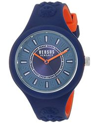 Versus - 'fire Island Bicolor' Quartz Stainless Steel And Silicone Watch, Color:two Tone (model: Vspoq2418) - Lyst