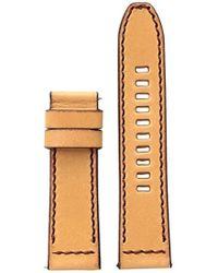 DIESEL - On Vachetta Leather 24mm Strap Dzt0002, Color: Tan - Lyst