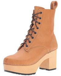 Swedish Hasbeens - Lace Up Plateau Boot - Lyst