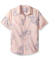 Guess - Short Sleeve Sunset Dragon Camp Shirt - Lyst