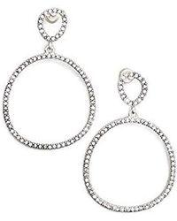 Kenneth Cole - Silver-tone Jeweled Drop Earrings - - Lyst