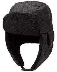 Dockers - Solid Melton Hat With Fold-down Ear Flaps - Lyst. Dockers -  Winter Warm Trapper Hat - Lyst fae1147533c2