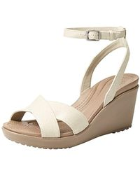 Crocs™ - Leigh Ii Adjustable Ankle Strap Wedge Comfort Sandal - Lyst
