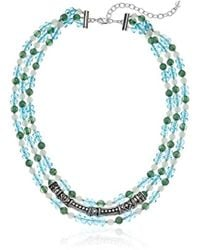 Napier - Multi-colored Beaded Multirow Necklace - Lyst