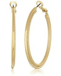 BCBGeneration - Bcbg Generation Gold Sandblast Hoop Earrings, One Size - Lyst