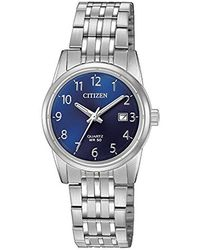 Citizen - Quartz Stainless Steel Casual Watch, Color:silver-toned (model: Eu6000-57l) - Lyst