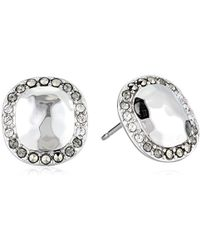 Judith Jack - Sterling Silver With Swarovski Marcasite Stud Earrings - Lyst