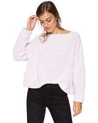 56b055c0510 French Connection Millie Mozart Solid Knits Cotton Sweaters in White - Save  40% - Lyst