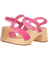 995d889e872cb9 Lyst - Swedish Hasbeens Ankle Strap Sandal in Pink