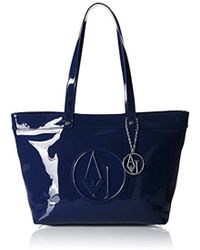 a69ad9a349 Lyst - Armani Jeans 5235 Small Patent Tote in Red