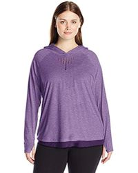 Nanette Lepore - Play Plus Size Feather Jersey + Mesh Soft Laser Cut Hoodie - Lyst
