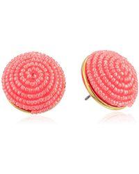 Kate Spade - S Button Stud Earrings - Lyst