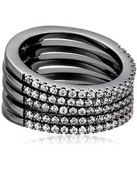 Noir Jewelry - Audley Stackable Ring - Lyst