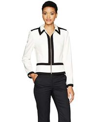 Calvin Klein - Lux Zipper Jacket With Piping - Lyst