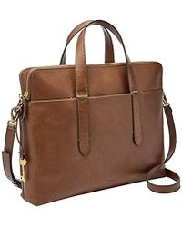 Fossil - Bridgitte Leather Laptop Bag - Lyst