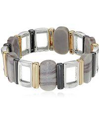Nine West - Tri-tone And Grey Stretch Bracelet, Size 0 - Lyst