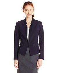 Ellen Tracy - Petite Size Inverted Rever Jacket - Lyst