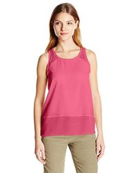 French Connection - Polly Plains Raw Edge Tank Top - Lyst