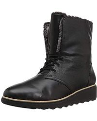 7e1297523d9 Lyst - Clarks Sharon Hop Wedge Bootie in Black