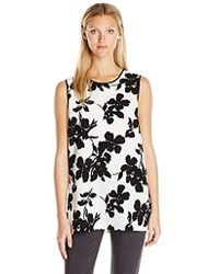 Vince Camuto - Sleeveless Fresco Blooms Tunic - Lyst