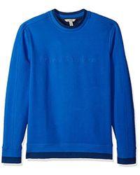 Calvin Klein - Crew Neck Sweatshirt With Tonal Rib Tipping - Lyst