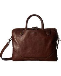 Frye - Logan Slim Zip Briefcase, - Lyst