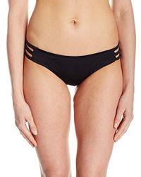 5805517b67 MILLY Italian Solid Cross-back Swim Top in Black - Lyst