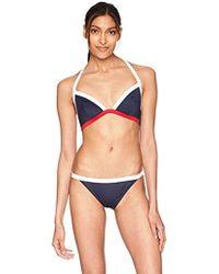 Emporio Armani - Ea7 Sea World Master Triangle Bikini Top And Bottom Set - Lyst