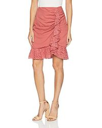 Keepsake - All Night Skirt With Lace Ruffle Detail - Lyst