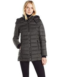 Nautica - Hooded Puffer In Faux Wool Fabric - Lyst