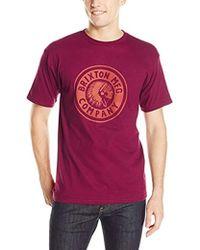 Brixton - Rival Short Sleeve Standard T-shirt - Lyst