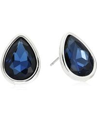 Kenneth Cole - Crystal And Tear Drop Stud Earrings - Lyst