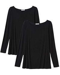 Daily Ritual - Jersey Long-sleeve Bateau-neck T-shirt - Lyst