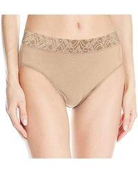 Wacoal - New Cotton Suede Hi-cut Brief Panty - Lyst