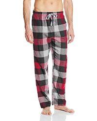 Kenneth Cole Reaction - Super Soft Brushed Flannel Lounge Pajama Pant Pj - Lyst