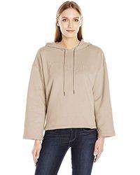 Calvin Klein - Jeans Cropped Logo Hoodie - Lyst