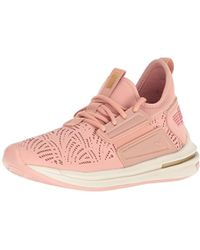 491a3561f52f Lyst - PUMA The Ignite Limitless Leather In Quite Shade And Gold in ...