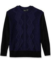 Armani Exchange - | Multi Knit Oversized Pullover Sweter - Lyst