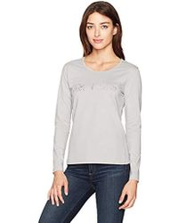 Armani Jeans - Grey Long Sleeve Graphic Tshirt - Lyst