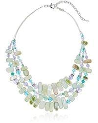 Napier - Tone Multirow Necklace - Lyst