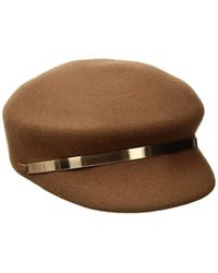 794c6a1e81d9c Nine West - Felt Newsboy Hat With Metal Trim - Lyst