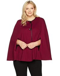 Nine West - Plus Size Solid Ponte Jacket With Leather Trim - Lyst