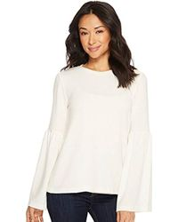 Michael Stars - Madison Brushed Jersey Open Neck Bell Sleeve Top - Lyst