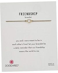 """Dogeared - Friendship Crystal On Pebble Cord Bracelet, Gold Dipped, 9"""" - Lyst"""