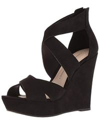 45be0f857cde Lyst - Naturalizer Tanisha Wedge Sandals in Black