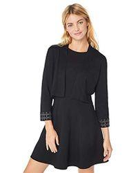 Calvin Klein - Open Shrug With Embellished Sleeve Hem - Lyst