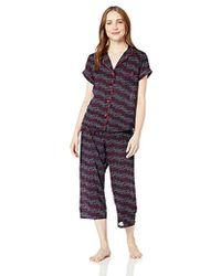 Tommy Hilfiger Rayon Girlfriend Pajama Short Sleeve Pj Set